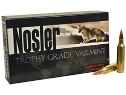 Nosler Trophy Grade Ammunition 22 Nosler 55 Grain Ballistic Tip Varmint Spitzer Box of 20