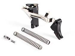 ZEV Technologies Fulcrum Drop-In Trigger Kit Glock Gen 3 or Earlier Aluminum Black Pad, Black Safety