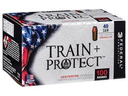 Federal Train + Protect Ammunition 40 S&W 180 Grain Versatile Hollow Point Box of 100