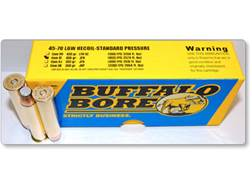 Buffalo Bore Ammunition 45-70 Government 405 Grain Jacketed Flat Nose Low Recoil Standard Pressur...