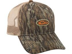 Drake Non-Typical Men's Mesh-Back Camo Logo Cap Polyester Mossy Oak Bottomland Camo