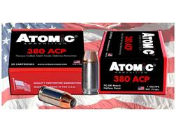Atomic Ammunition 380 ACP 90 Grain Bonded Jacketed Hollow Point