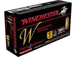 Winchester W Train Reduced Recoil Ammunition 380 ACP 95 Grain Full Metal Jacket