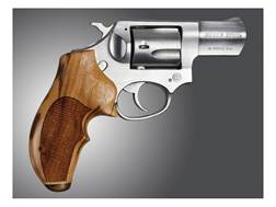 Hogue Fancy Hardwood Grips with Accent Stripe and Top Finger Groove Ruger SP101 Checkered