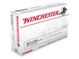 Winchester USA Ammunition 30-06 Springfield 147 Grain Full Metal Jacket