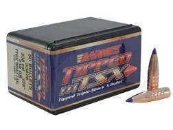 Barnes Tipped Triple-Shock X Bullets 338 Caliber (338 Diameter) 210 Grain Spitzer Boat Tail Lead-...