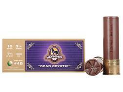 "Hevi-Shot Dead Coyote Ammunition 10 Gauge 3-1/2"" #4 Buckshot Non-Toxic 35 Pellets Box of 10"