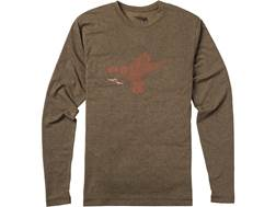 Sitka Gear Men's Duck Sketch T-Shirt Long Sleeve Polyester and Cotton Blend Mud