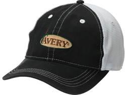 Avery Mesh Back Logo Cap Polyester Black/White