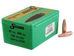 Sierra GameKing Bullets 30 Caliber (308 Diameter) 165 Grain Hollow Point Boat Tail Box of 100