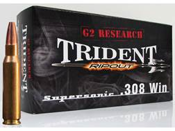 G2 Research RIP-OUT Trident Ammunition 308 Winchester 150 Grain Expanding Solid Copper Lead-Free ...