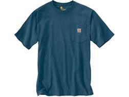 Carhartt Men's Workwear Pocket T-Shirt Short Sleeve Cotton Stream Blue Medium