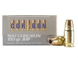 Cor-Bon Self-Defense Ammunition 400 Cor-Bon 150 Grain Jacketed Hollow Point Box of 20