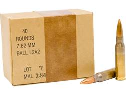 Military Surplus Ammunition 7.62x51mm 146 Grain Full Metal Jacket Berdan Primed