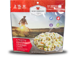 Wise Food Outdoor Creamy Pasta and Vegetables with Chicken Freeze Dried Food Pack of 6
