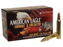 Federal American Eagle Ammunition 223 Remington 50 Grain Jacketed Hollow Point