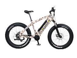 QuietKat 1000W Motorized FatKat Bike with Mid-Drive Internal Motor and Chain Drive