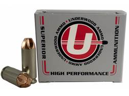 Underwood Xtreme Defender Ammunition 10mm Auto 100 Grain Lehigh Xtreme Defense Lead-Free Box of 20
