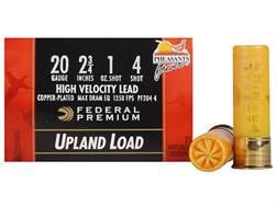 "Federal Premium Wing-Shok Pheasants Forever Ammunition 20 Gauge 2-3/4"" 1 oz Buffered #4 Copper Pl..."