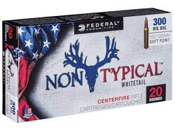 Federal Non-Typical Ammunition 300 Winchester Magnum 150 Grain Soft Point Box of 20