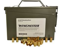 Winchester Reloading Brass 45 ACP Ammo Can of 500 (Bulk Packaged)