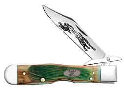 "Case Clover Bone Cheetah Folding Knife 4.375"" Clip Point Stainless Steel Blade Sawcut Bone Handle..."