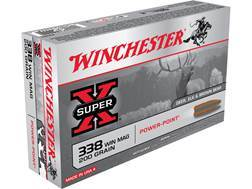 Winchester Super-X Ammunition 338 Winchester Magnum 200 Grain Power-Point