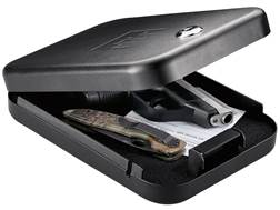 "GunVault NanoVault 100 Pistol Safe 1-1/2"" x 6"" x 8-1/4"" Black"