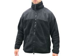 Military Surplus Fleece Jacket Grade 1 Polyester Black 2XL