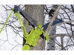 "HME Extendable 6' Pole Saw 12"" Carbon Steel Blade Foam Handle Black and Orange"