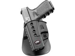 Fobus Evolution Roto-Paddle Holster Left Hand Glock 17, 19, 34, Walther PK380 Polymer Black