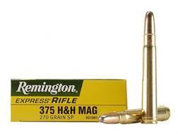 Remington Express Ammunition 375 H&H Magnum 270 Grain Jacketed Soft Point Box of 20