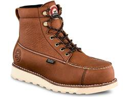 "Irish Setter Wingshooter ST 6"" Waterproof Non-Metallic Safety Toe Work Boots Leather Brown Men's 9 D"