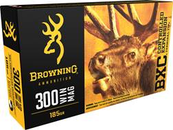 Browning BXC Controlled Expansion Ammunition 300 Winchester Magnum 185 Grain Terminal Tip