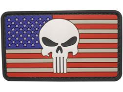 "5ive Star Gear US Flag Punisher PVC Morale Patch Red, White, and Blue 2"" x 3"""