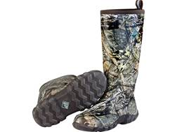 "Muck Woody Blaze Cool 17"" Rubber Snake Uninsulated Hunting Boots Rubber/Synthetic Mossy Oak Break..."
