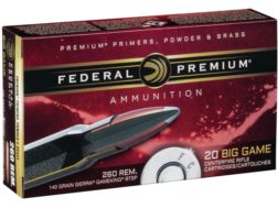 Federal Premium Vital-Shok Ammunition 260 Remington 140 Grain Sierra GameKing Boat Tail Box of 20