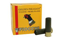 "Fiocchi Golden Pheasant Ammunition 12 Gauge 3"" 1-3/4 oz #5 Nickel Plated Shot Box of 25"