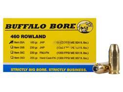 Buffalo Bore Ammunition 460 Rowland 185 Grain Jacketed Hollow Point Box of 20