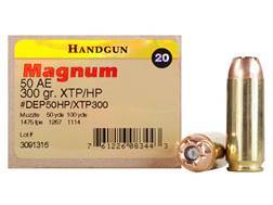 Magnum Research Ammunition 50 Action Express 300 Grain Hornady XTP Jacketed Hollow Point Box of 20