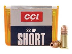 CCI Ammunition 22 Short 27 Grain Copper-Plated Hollow Point Box of 100