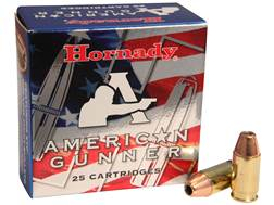 Hornady American Gunner Ammunition 380 ACP 90 Grain XTP Jacketed Hollow Point Box of 25