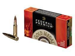 Federal Premium Gold Medal Ammunition 308 Winchester 168 Grain Sierra MatchKing Hollow Point Boat...