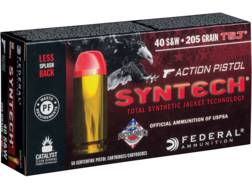 Federal American Eagle Syntech Action Pistol Ammunition 40 S&W 205 Grain Total Synthetic Jacket