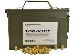 Winchester Reloading Brass 40 S&W Ammo Can of 500 (Bulk Packaged)