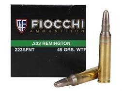 Fiocchi Frangible Ammunition 223 Remington 45 Grain Sinterfire Wide Taper Point Lead-Free Box of 50