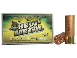 "Hevi-Shot Hevi-Metal Waterfowl Ammunition 12 Gauge 2-3/4"" 1-1/8 oz #3 Non-Toxic"