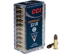 CCI Copper-22 Ammunition 22 Long Rifle 21 Grain Copper Hollow Point Lead-Free