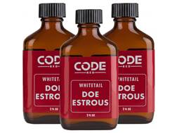 Code Red Doe Estrous Urine 3-Pack Combo Deer Scent Liquid