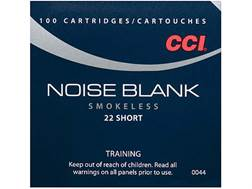 CCI Noise Blanks Ammunition 22 Short Box of 100